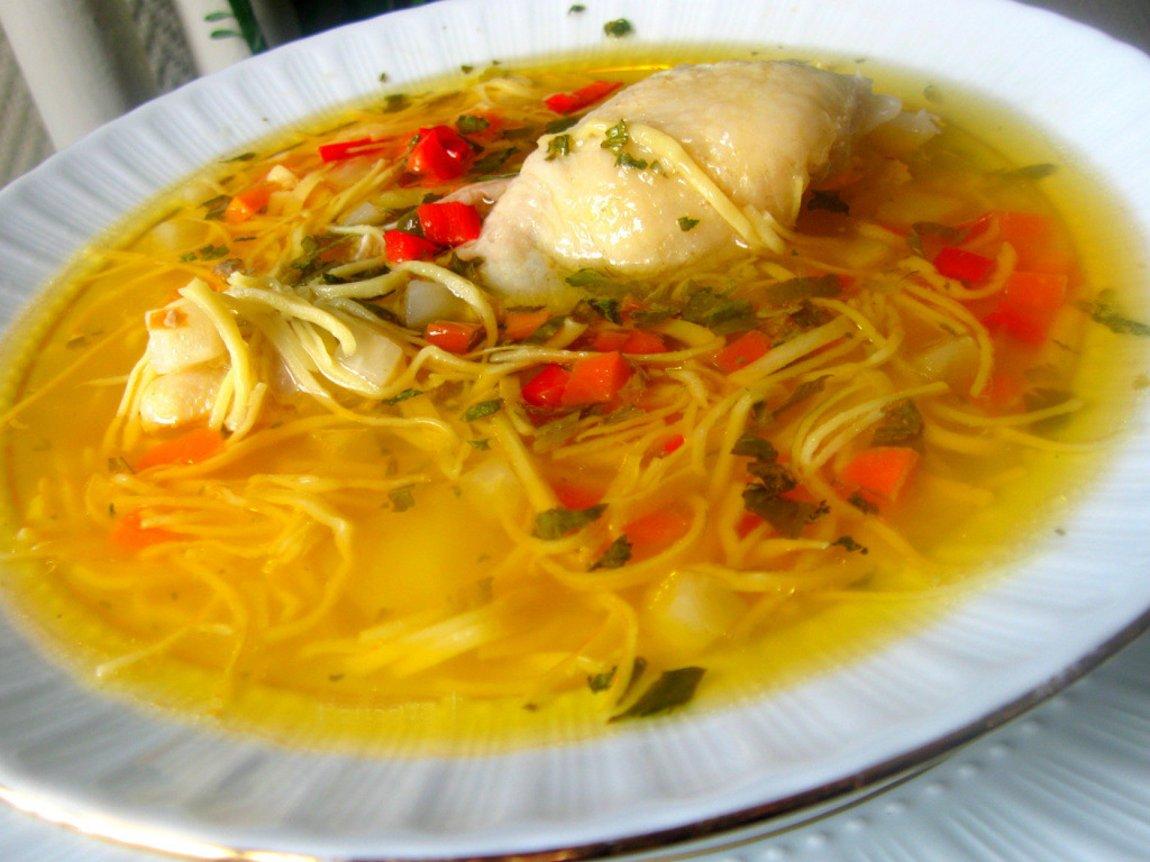 Куриный суп с домашней лапшой рецепт пошагово с фото
